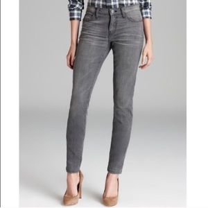 Current/Elliott Ankle Skinny Jeans Mid Rise Gray 6